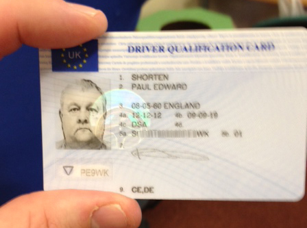Driver Qualification Card